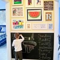 """怎样在家里给孩子安置一块""""万能""""的书写板?"""