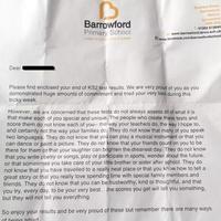 英国一所小学在学生成绩单后附了这样一封信…