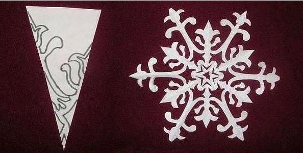 漂亮的剪纸雪花