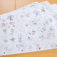 展示孩子涂鸦的另类方法:自己做被罩〖孩子就是艺术家〗