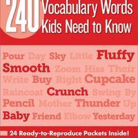 美国小学1年级必须掌握的240个单词